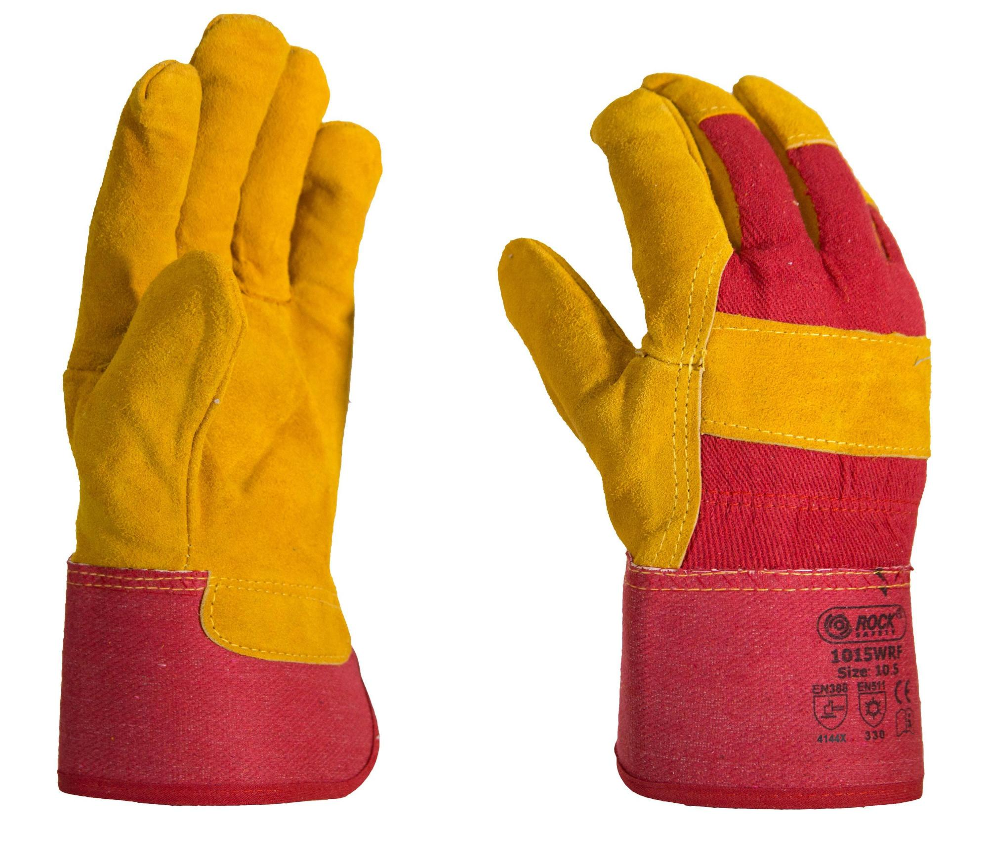 Перчатки ROCK 1015WRF утепленные кожаные комбинированные ...
